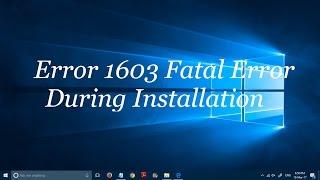 How to fix .Net error code 1603