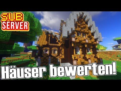 Wir bewerten EURE Häuser! - Minecraft SubServer mit Clym | Earliboy