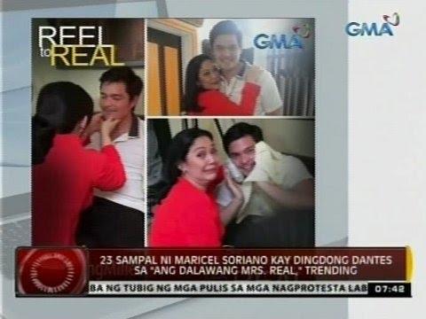 """24 Oras: 23 sampal ni Maricel Soriano kay Dingdong Dantes sa """"Ang Dalawang Mrs. Real,"""" trending - 동영상"""