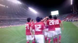 日本対韓国 サッカー・キリンチャレンジ杯 2010 5/24 一発目