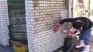 汚れた外壁のタイルが新品の様に甦る作業方法・Cleaning of the outer wall tile thumbnail