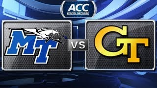 Middle Tennessee vs Georgia Tech Highlights - 2012