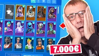 My Dad REACTS to my 7000 DOLLAR Fortnite Skins!