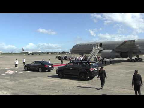 Arrival of Prime Minister John Key, New Zealand 11/17/2015