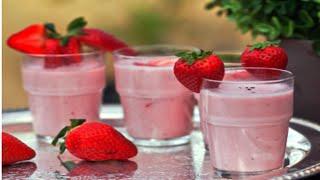 Strawberry Lassi at Home