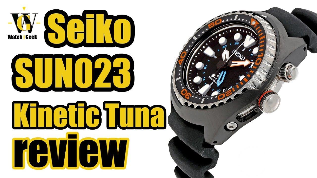 Seiko Prospex Kinetic Gmt Sun023 Aka Tuna Review How Sun043 To Setup Use