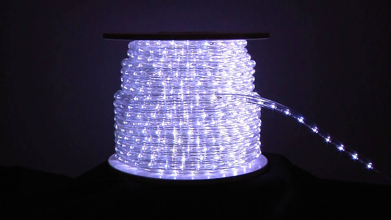 Twinkling cool white led rope light youtube twinkling cool white led rope light mozeypictures Choice Image