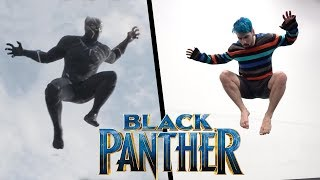 One of Nick Pro's most viewed videos: Black Panther Stunts In Real Life (Parkour, Tricking, Freerunning)