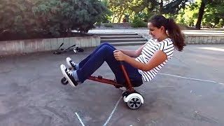 Convert Your Hoverboard Into a Fun Go-Kart   HoverKart, HoverBike, HoverSeat