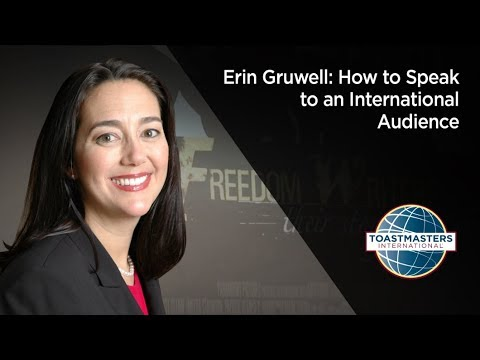 Erin Gruwell: How to Speak to an International Audience