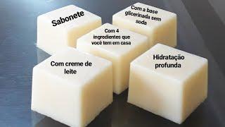 Faça Sabonetes Usando Base Glicerinada e Creme de Leite