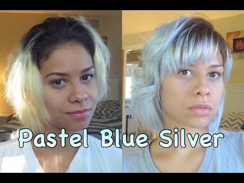 How To Pastel Silver Blue Hair Dye