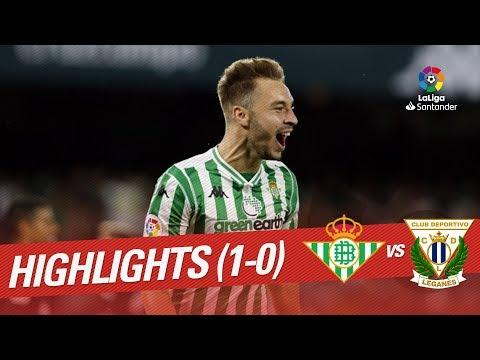Resumen de Real Betis vs CD Leganés (1-0)