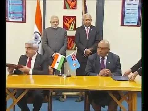 Signing Ceremony and Joint Press Remarks (Prime Minister's Office of Fiji) | PMO