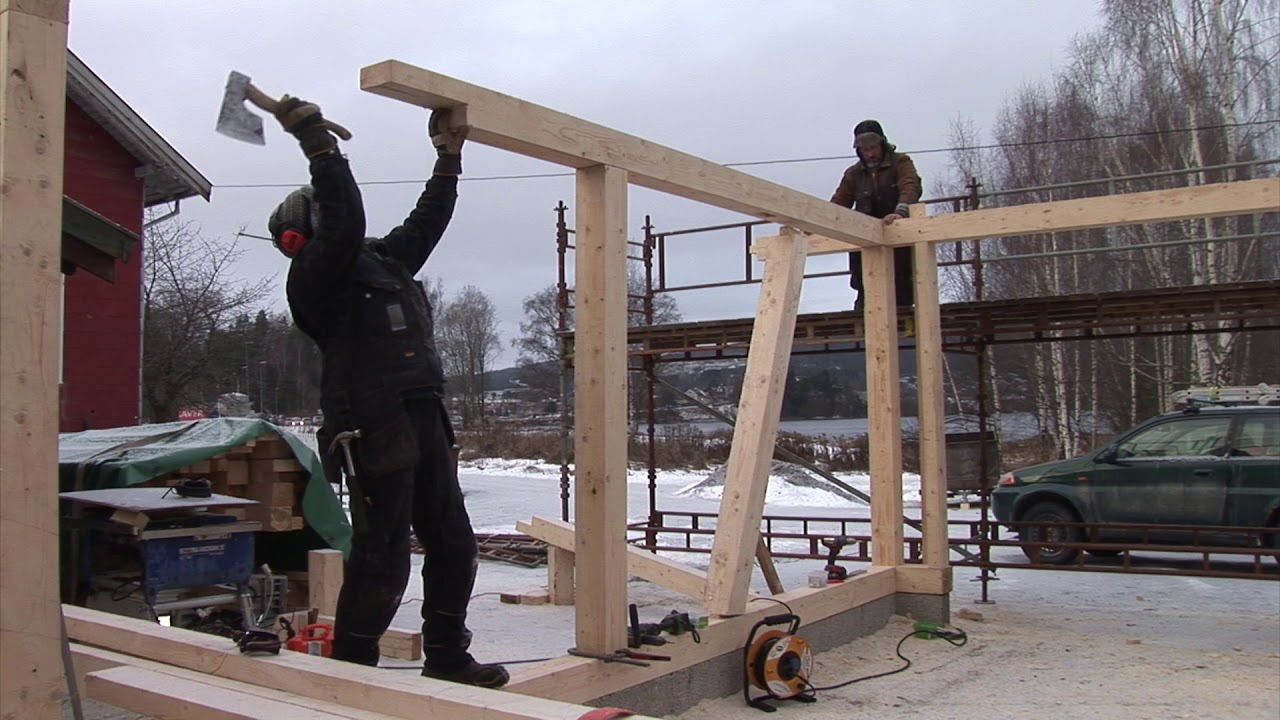 8/35: building a Post and Beam Garage - raw building - YouTube on post and pole garage, over at modern contemporary backyard patio garage, post beam headers, board and batten garage, steve jobs garage, gambrel barn garage, i-beam in garage, wood beam header over garage,