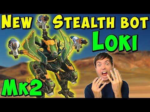 New Stealth Robot LOKI Spark Mk2 Gameplay - War Robots 50 WR