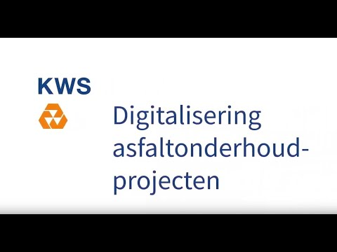 Digitalisering asfaltonderhoud Provincie
