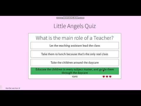 Little Angels Daycare Application For Teacher 2018 - YouTube