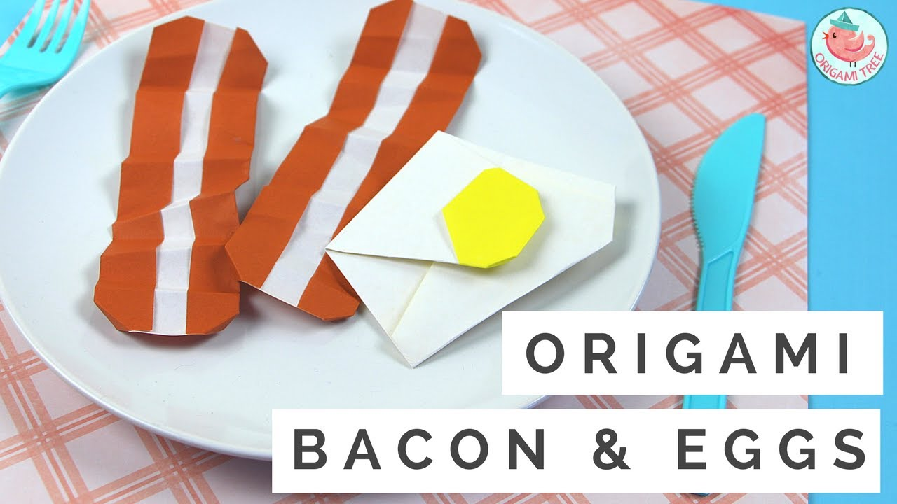how to make origami bacon amp eggs origami food tutorial