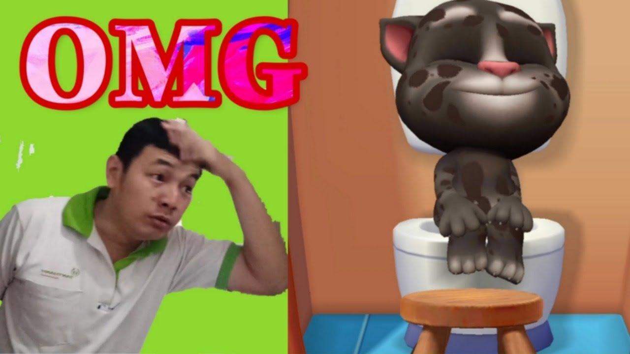 Ba Bé Mít TV imitates Talking Tom Cat 🐱❤️ - Repeat After Tom Challenge