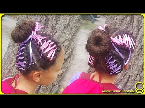 Hairstyle with ribbons   Simple and original ??? thumbnail