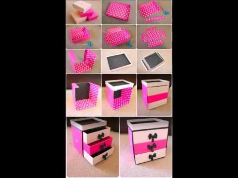 Manualidades con cajas de zapatos shoe box crafts youtube - Manualidades con cajas ...
