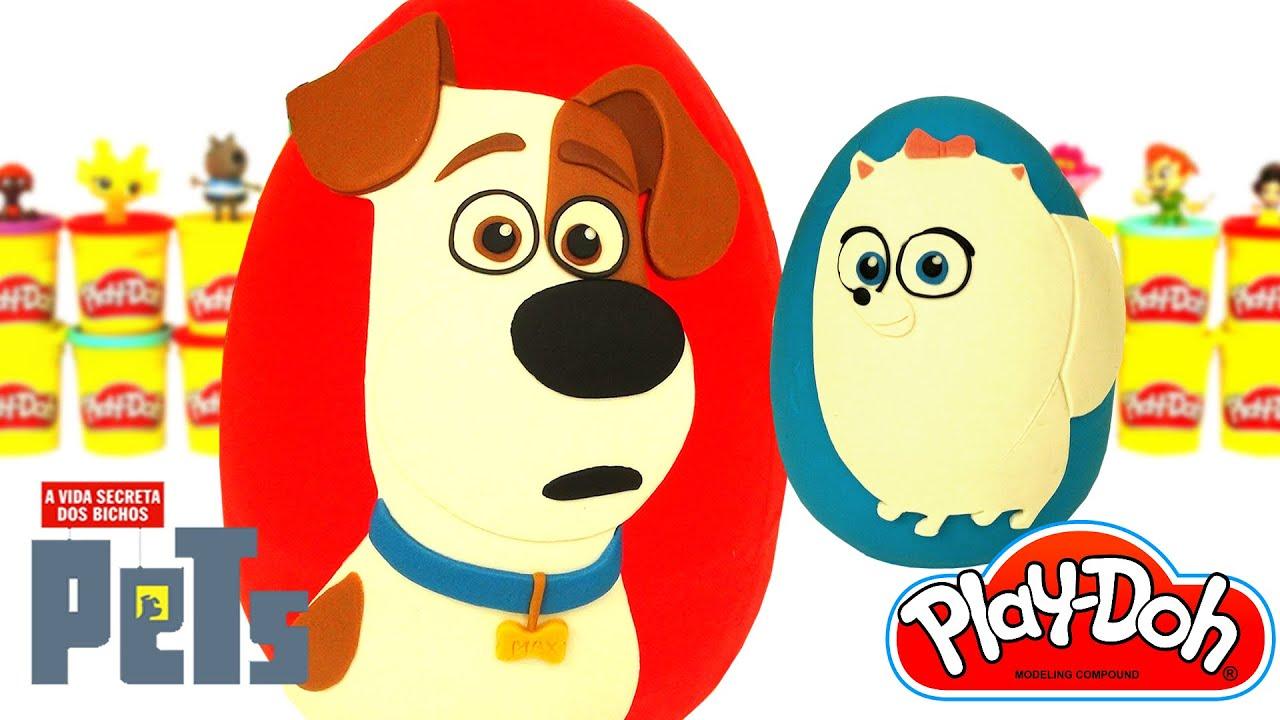 Ovo Surpresa Gigante de Pets - A Vida Secreta dos Bichos em Português Brasil de Massinha Play Doh