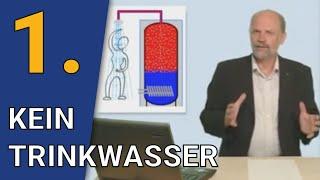 Grundregel 1  - Kein Trinkwasser im Speicher / Die 7 Grundregeln der Speichertechnik