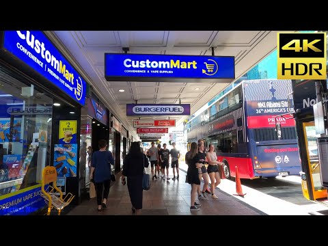 【4K HDR】Walking Tour Auckland City New Zealand!