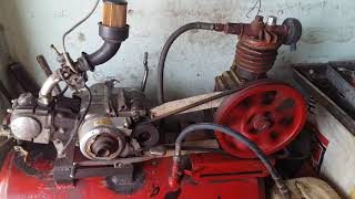 how to motorcycle engine on tanki  air compressor