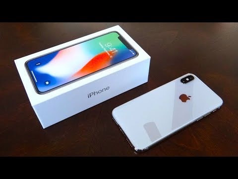 iPhone X 256GB Silver Unboxing