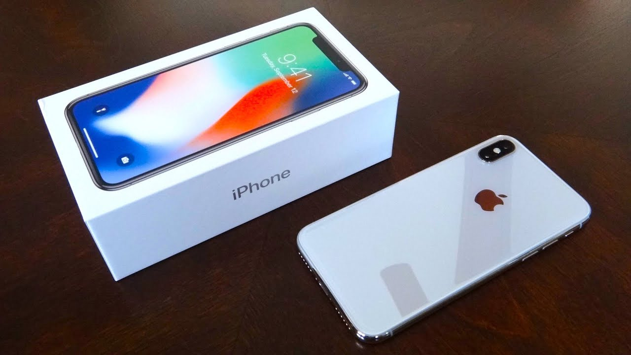 645542d56d iPhone X 256GB Silver Unboxing - YouTube