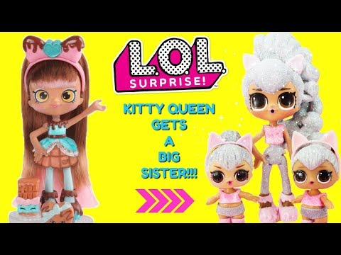 LOL SURPRISE Kitty Queen Gets A Big Sister DIY Shopkins Shoppie Doll Cocolette Custom Makeover