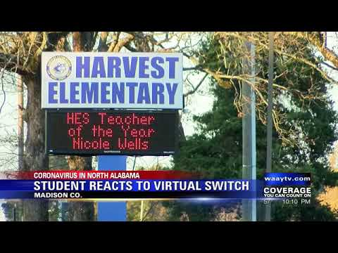 Sparkman Middle School student reacts to going to remote learning