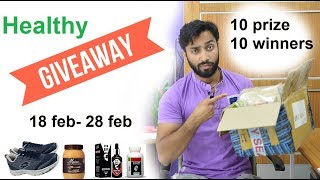 Healthy giveaway 10 prize 10 winners, must participate all