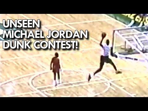 UNSEEN MICHAEL JORDAN DUNK CONTEST from 1989! FREE THROW LINE DUNK!!!
