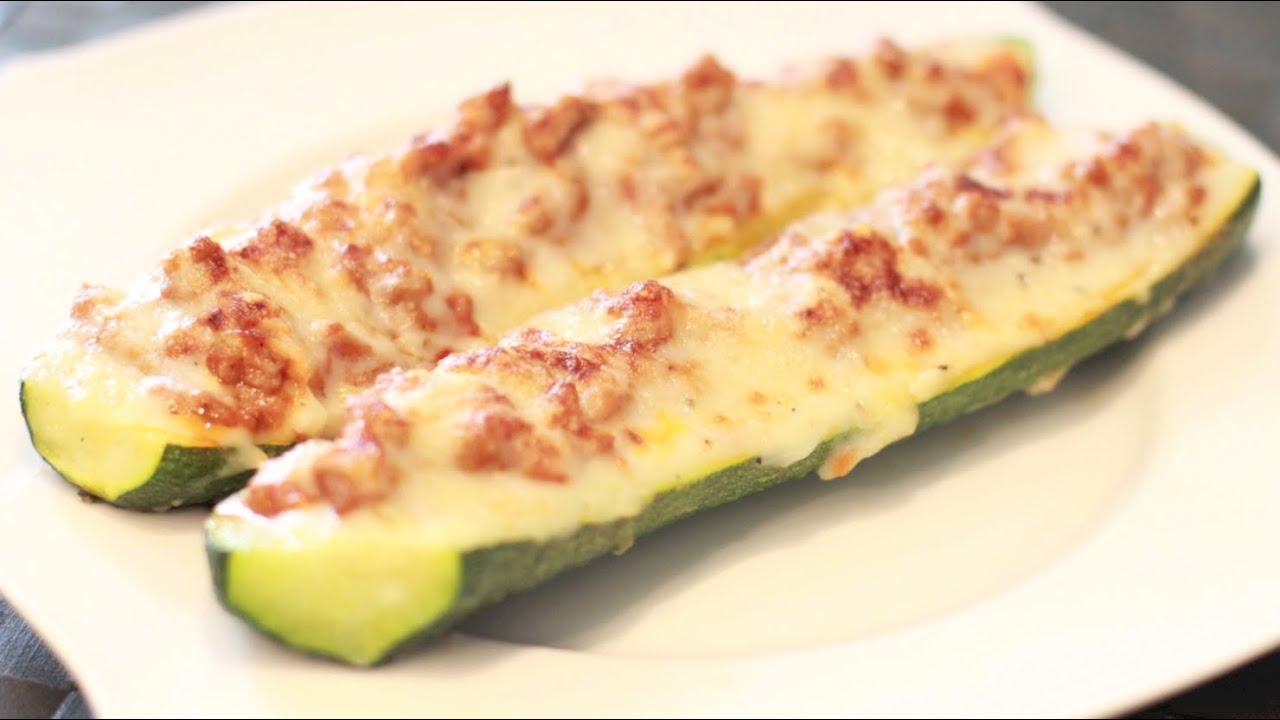 Calabacines rellenos de carne recetas para horno youtube - Salsa para relleno de carne ...