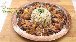Mangal Tadında Fırından Nar Gibi Kızarmış Enfes Tavuk Kanat Tarifi Ve Arpa Şehriyeli Pirinç Pilavı