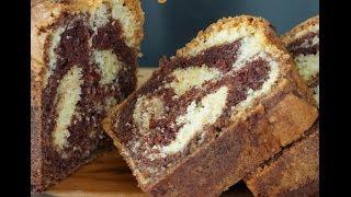 Recette du gâteau marbré facile et moelleux (Eng. Sub : marble cake)
