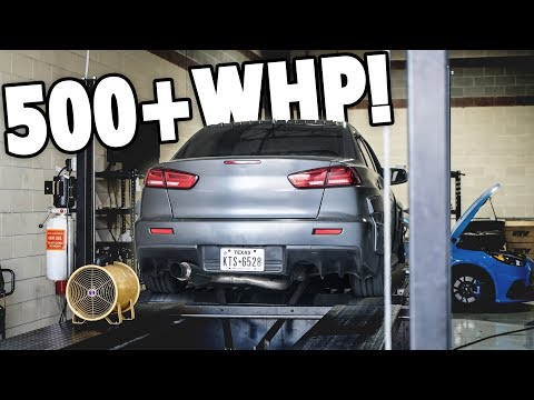 JOINING THE 500+WHP CLUB!!! Evo X Dyno Day