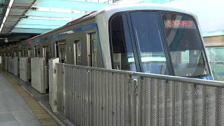 [60fps]横浜市営地下鉄ブルーライン 普通あざみ野行 センター南駅 Yokohama Municipal Subway Blue-Line Center Minami-sta.