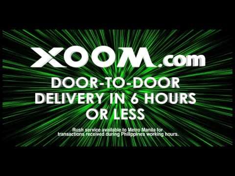 Xoom.com door-to-door cash delivery in Metro Manila within six hours or less