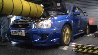 Subaru Impreza WRX STi Type UK PPP Blitz Nur Spec R on Powerstation dyno Rolling Road