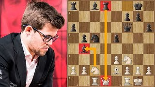 World Champ Sacs the Queen to Start the Festival! | Carlsen vs Navara | Biel Chess 2018