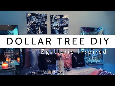 DOLLAR TREE DIY| Zgallerie Inspired Wall Decor| Sequin Wall Decor