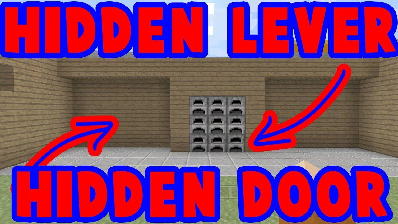How To Hide A Lever For A Hidden Door : Minecraft : Tutorial
