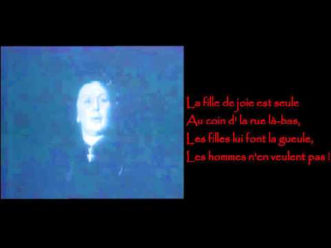 Edith Piaf - L'accordéoniste / Lyrics