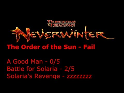 """Neverwinter Foundry - """"The Order Of The Sun"""" Quest Group By Jedimaster13"""