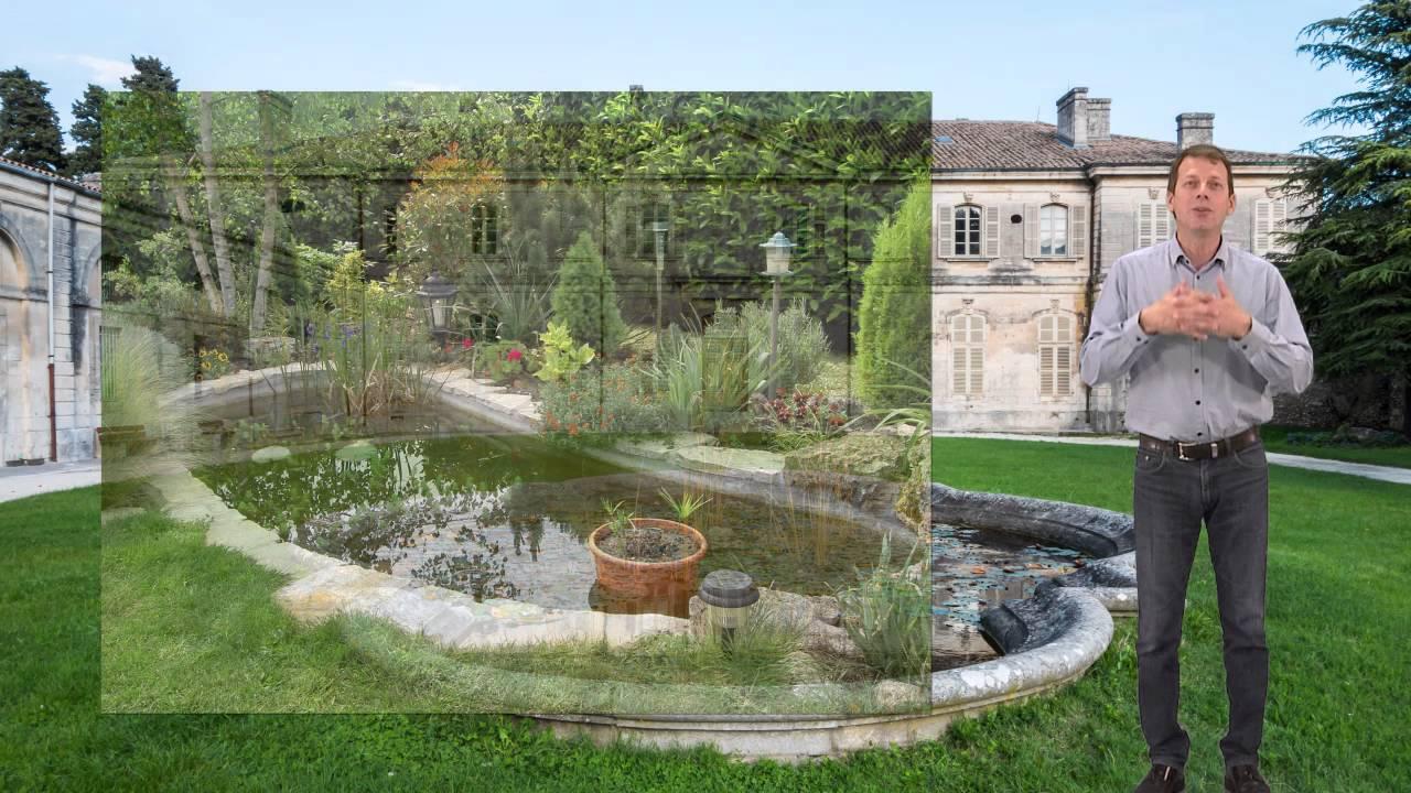 bassin pierre naturelle exterieur et jardin - youtube