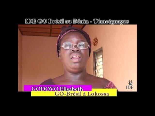 Testemunho Godovo Elisabeth Projeto Benin - IDE GO